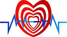Insignia del corazón de la remolocha ilustración del vector