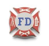 Insignia del cuerpo de bomberos imagen de archivo libre de regalías