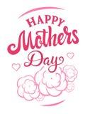 Insignia del día de madres libre illustration