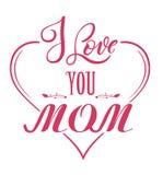 Insignia del día de madres stock de ilustración