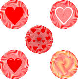 Insignia del día de tarjeta del día de San Valentín Fotos de archivo libres de regalías