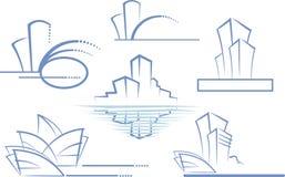 Insignia del edificio stock de ilustración