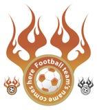 Insignia del equipo de fútbol Fotos de archivo libres de regalías