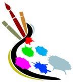 Insignia del estudio del artista ilustración del vector
