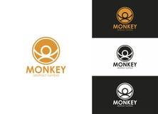 Insignia del extracto del símbolo del mono Imágenes de archivo libres de regalías