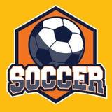 Insignia del fútbol Fotografía de archivo libre de regalías