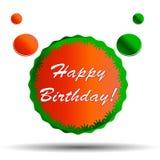 Insignia del feliz cumpleaños Fotos de archivo libres de regalías