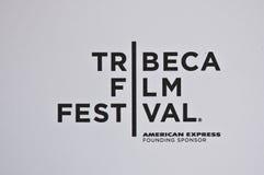 Insignia del festival de película de Tribeca Imágenes de archivo libres de regalías