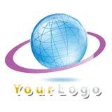 Insignia del globo stock de ilustración