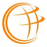 Insignia del globo Fotografía de archivo