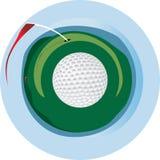 Insignia del golf Ilustración del Vector
