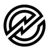 Insignia del icono de la letra e Fotos de archivo