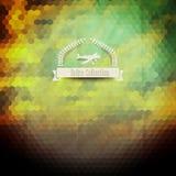 Insignia del inconformista del vector Puesta del sol Cielo Nubes Wi retros del diseño de la etiqueta libre illustration