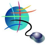 Insignia del Internet Imagen de archivo