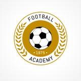 Insignia del logotipo del fútbol aislada en el fondo blanco Imagen de archivo