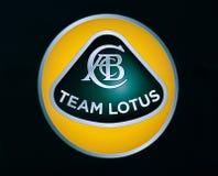 Insignia del loto f1 Fotografía de archivo