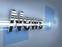 Insignia del metal de las noticias de última hora 3d Fotografía de archivo libre de regalías