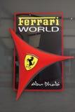 Insignia del parque temático del mundo de Ferrari Imagen de archivo libre de regalías
