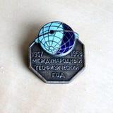 Insignia del participante del año geofísico internacional en 19 Foto de archivo