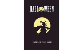 Insignia del partido de Halloween Imágenes de archivo libres de regalías
