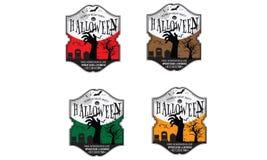 Insignia del partido de Halloween Imagen de archivo libre de regalías