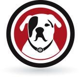 Insignia del perro del barro amasado ilustración del vector
