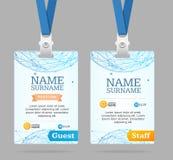 Insignia del plástico de la plantilla de la tarjeta de la identificación Vector Foto de archivo libre de regalías