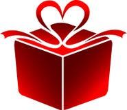 Insignia del rectángulo de regalo Imagen de archivo libre de regalías