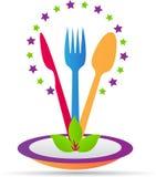 Insignia del restaurante ilustración del vector
