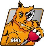 Insignia del rinoceronte ilustración del vector