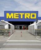 Insignia del supermercado de Cash&Carry del metro Imagen de archivo libre de regalías