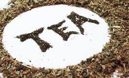 Insignia del té Imagen de archivo libre de regalías