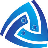 Insignia del triángulo ilustración del vector