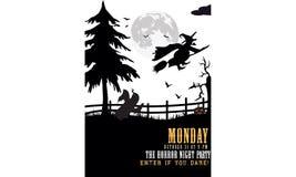 Insignia del vector de la invitación del partido de Halloween Fotos de archivo libres de regalías