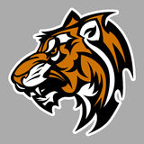 Insignia del vector de la mascota del tigre Fotografía de archivo