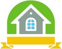 Insignia del vector de la pequeña casa Foto de archivo libre de regalías