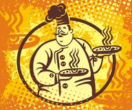 Insignia del vector del cocinero ilustración del vector
