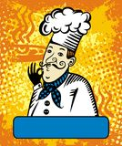 Insignia del vector del cocinero Imagenes de archivo