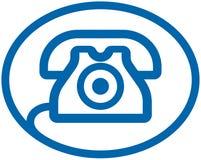 Insignia del vector del teléfono Foto de archivo libre de regalías