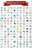Insignia del vector y paquete de los elementos del diseño Imágenes de archivo libres de regalías