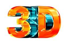 insignia del vidrio 3D stock de ilustración