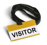 Insignia del visitante Fotografía de archivo