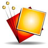 Insignia del Web site del arte abstracto stock de ilustración