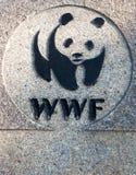 Insignia del WWF fotografía de archivo