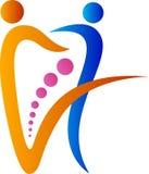 Insignia dental de los pares stock de ilustración