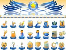 Insignia e iconos para el sitio Foto de archivo