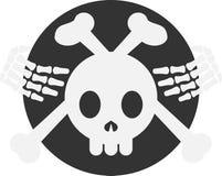 Insignia/emblema esqueléticos de la bandera pirata Imágenes de archivo libres de regalías