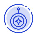 Insignia, estrella, medalla, escudo, línea de puntos azul línea icono del honor libre illustration