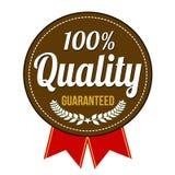 Insignia garantizada calidad del ciento por ciento Fotografía de archivo