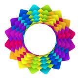 Insignia geométrica de la flor del arco iris Fotos de archivo